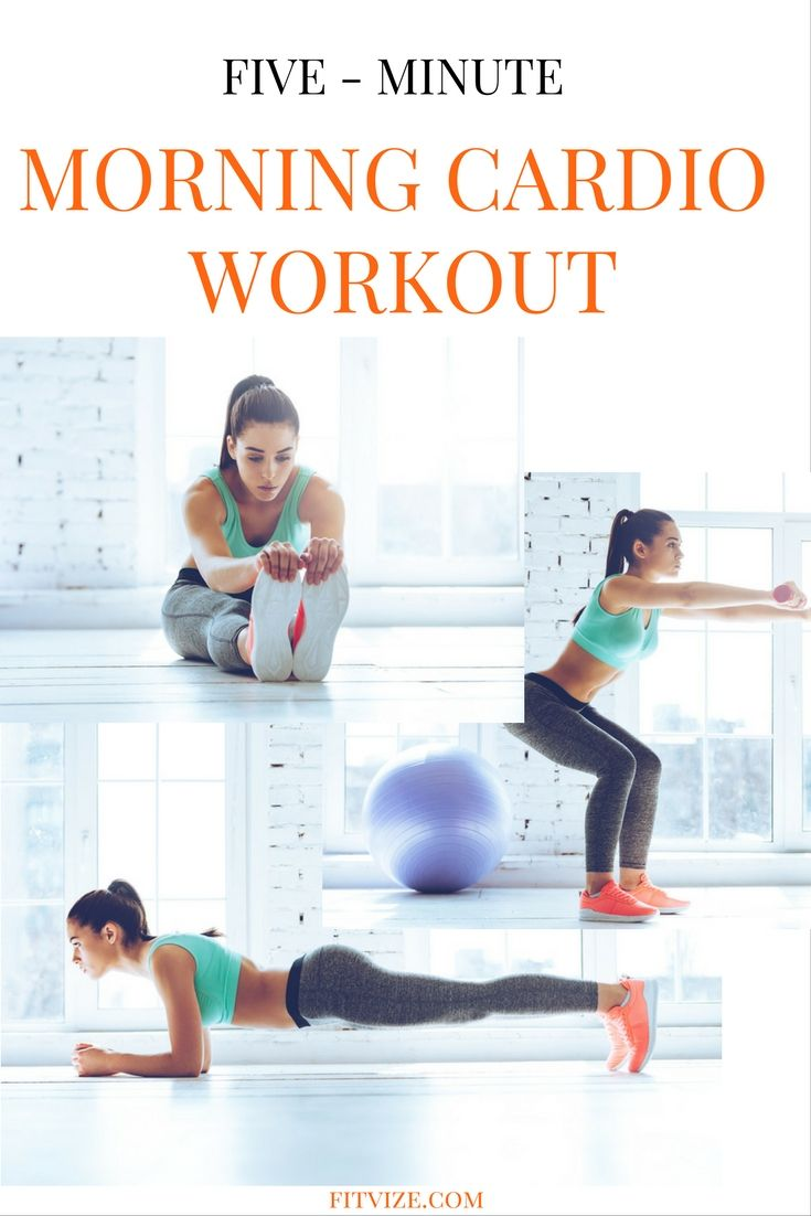 This 5 minute cardio workout will give you energy for the whole day…