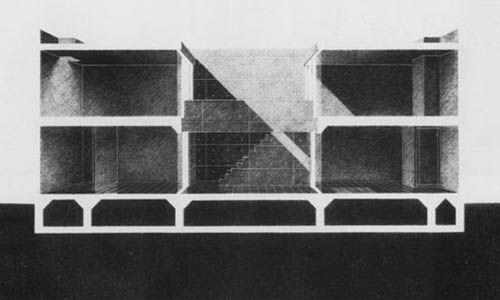 The Charnel-House | architecture-drawings: Tadao Ando