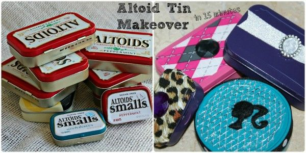 Altoid Tin Makeover in 15 Minutes: Crafts Ideas, Tins Makeovers, 15 Minute, Craftsi Stuff, Crafts Projects, Perfect Stockings, Tins Crafts, Altoids Tins, Stockings Stuffers Diy