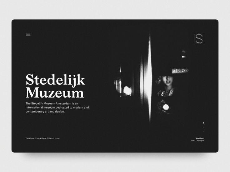 "cosmicdesigners: ""Stedelijk Muzeum — Animated Header Hrvoje Grubisic """