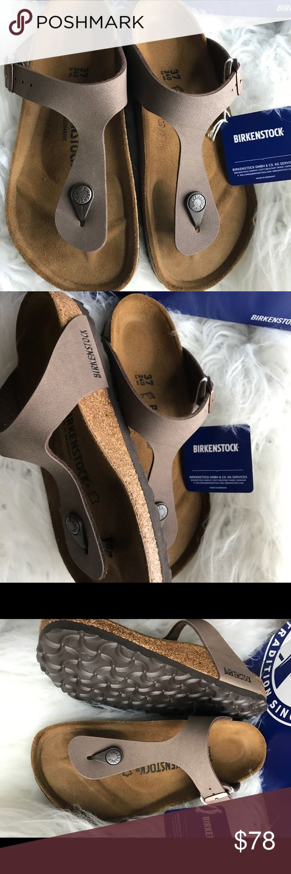 $69 FIRM BNWT BIRKENSTOCK GIZEH MOCCA 37 ON VACATION UNTIL SEPTEMBER 5th.                                            Brand new with tags & box. Box might not be in perfect shape due to handling. Beautiful birkibuc in the popular mocca color. Sz 37 regular width Please know your size in Birks before ordering. I can only guarantee I will be sending the European size stated on the listing. All items are inspected throughly and filmed before shipment.   Price is FIRM see comment for discounted…