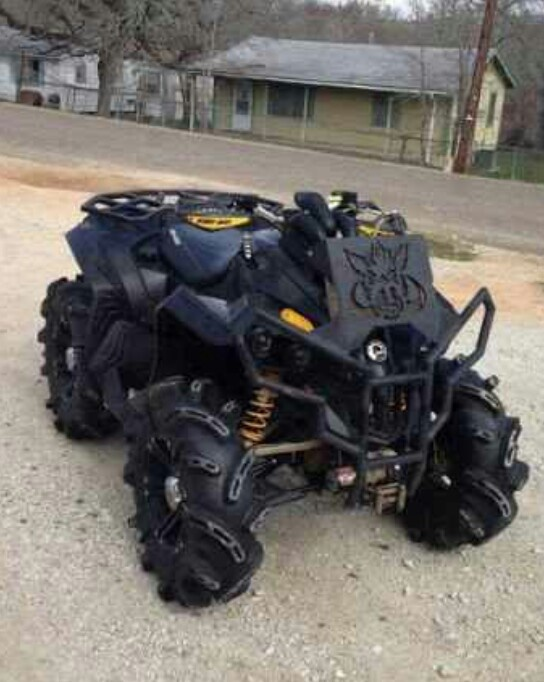 Mean 4 wheeler..wow now thats an ATV