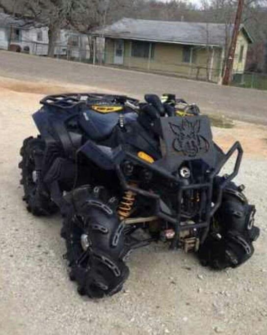 Mean 4 wheeler..wow now thats an ATV