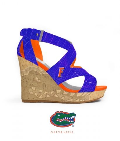 The Chomp Wedge - Florida Gator Heels by Fan Feet