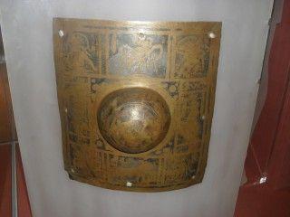 Roman shield boss umbo of a scutum from Britain. British museum