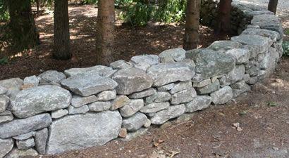New England Fieldstone Rock Wall