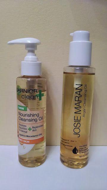 New Garnier Nourishing Cleansing Oil vs. Josie Maran Cleansing Oil. Dupe!