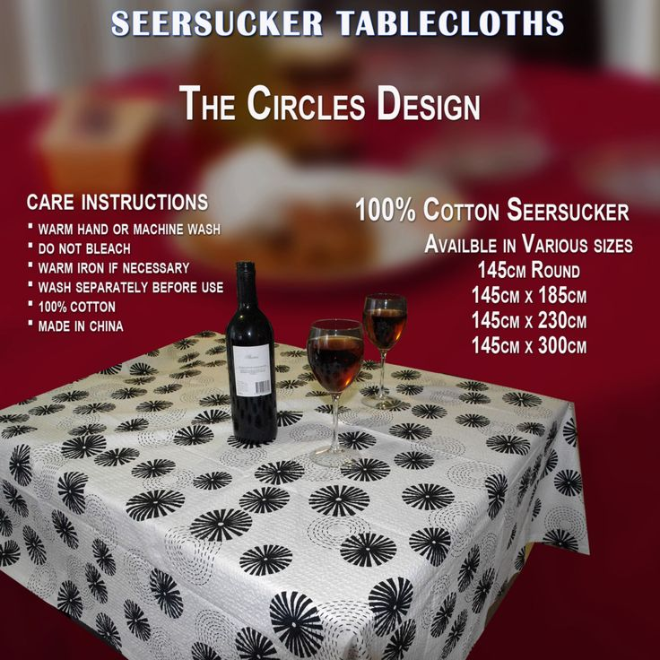 4 Seater 6 Seater 8 Seater 10 Seater Table Cloth Circles Design Cotton  Round And Rectangle