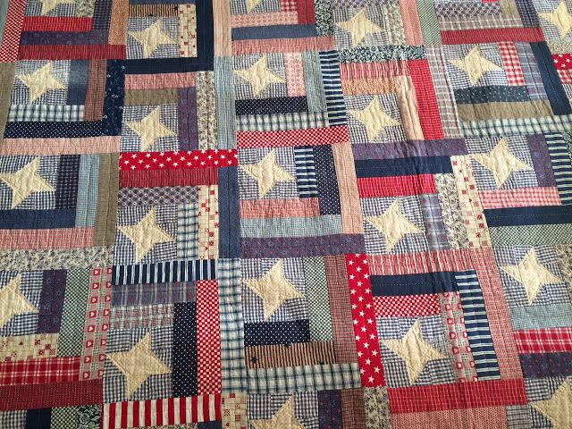 Humble Quilts: Happy Independence Day USA! - Old Thimbleberries- hand quilted Posted by Lori
