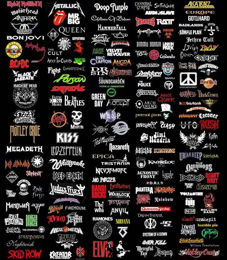 so many band logos!