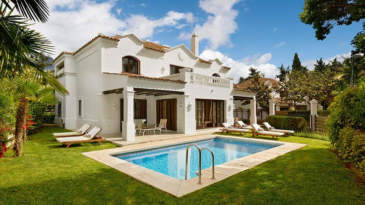 Marbella Club Hotel   A blend of privacy and gardens. Located on the Mediterranean. the beach front Hotel has 84 rooms, 37 elegant suites, 14 Andalucían-style luxury villas with their own gardens, pools and some with kitchens for maximum convenience and privacy.   per Expedia, $240/night