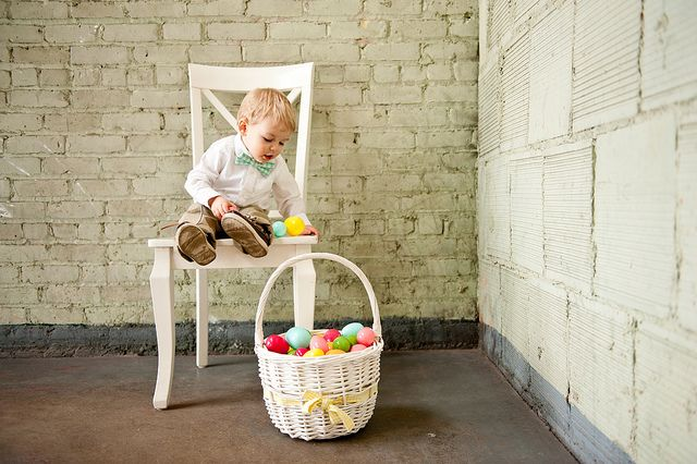 A gingham minty Easter bowtie delight
