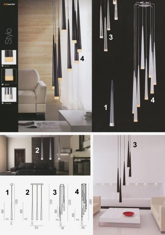 Svietidlá.com - Azzardo - Stylo - Moderné svietidlá - svetlá, osvetlenie, lampy, žiarovky, lustre, LED