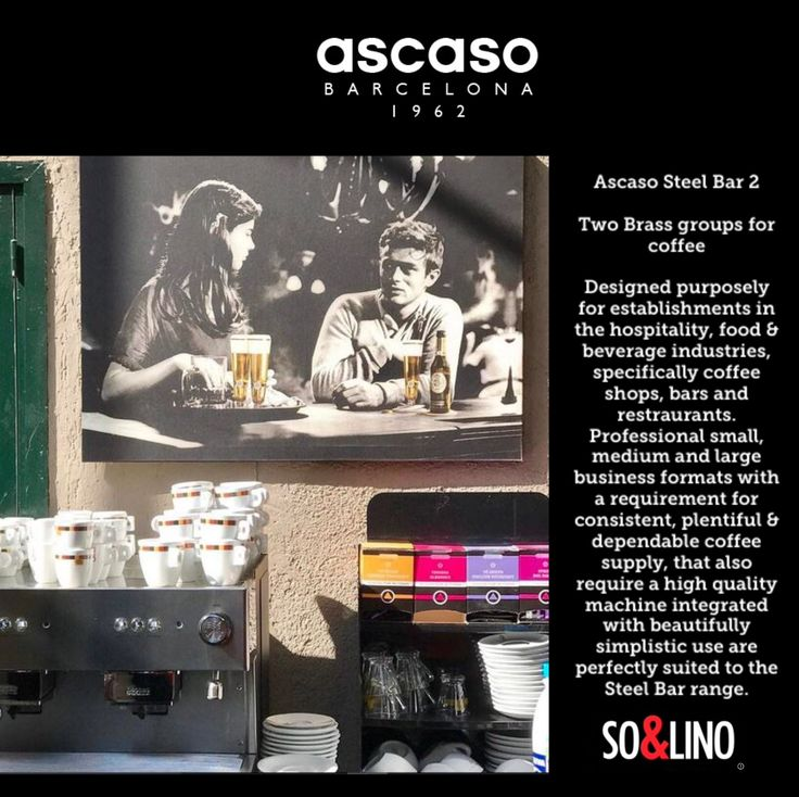 Ascasos professional thermoblock group and our patented fix arm system design gives the user professional performance and simplified easy use, whilst simultaneously allowing an unlimited supply of steam. ESE pods & pads only. www.solino.gr