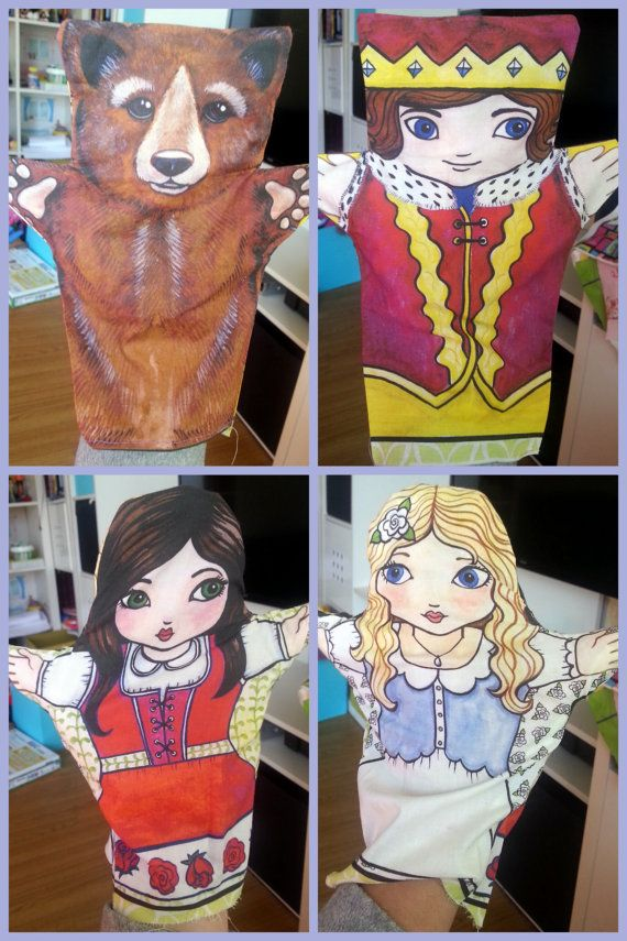 Snow White and Red Rose  FQ to make hand puppet $6.50