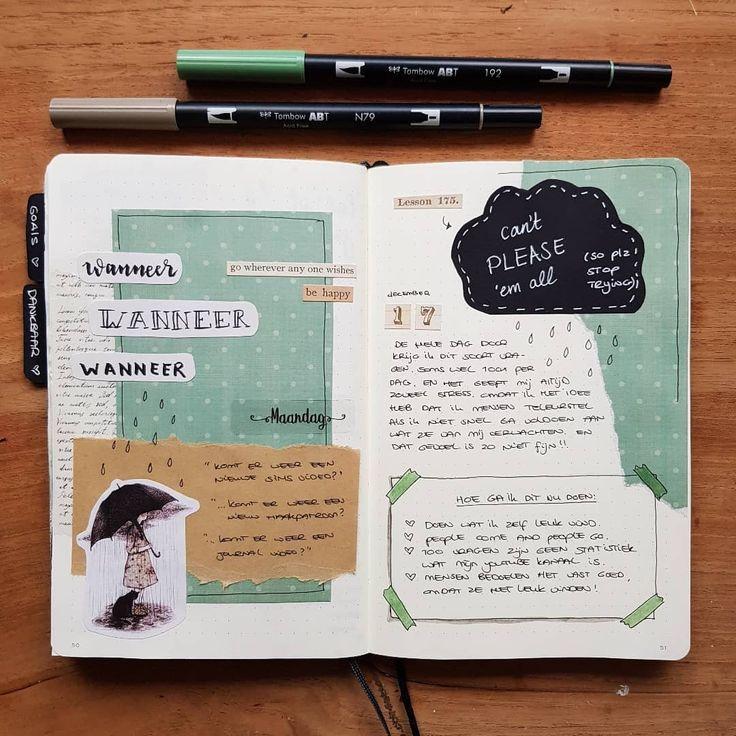 Nieuwe spread in m'n journal. En van deze pagi…