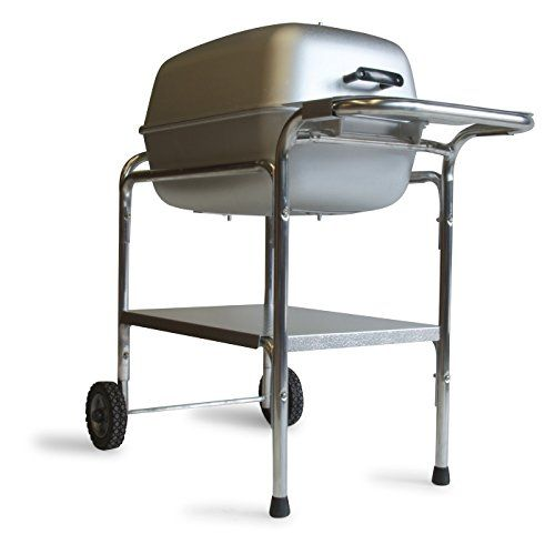 Reproduced #from an original 1950's design, this heavy-duty cast aluminum charcoal grill radiates heat so food cooks more evenly-without constant turning.  With ...