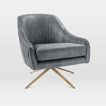 Roar + Rabbit Swivel Chair - Leather #westelm