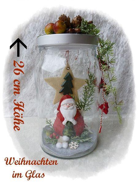 Weihnachten im Glas / Weihnachtsdekoration von Die Geschenkidee auf DaWanda.com