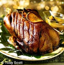 honey-roast goose recipe