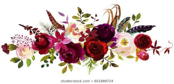 Burgundy Flower Images Stock Photos Vectors Shutterstock Flower Invitation Flower Bouquet Png Flowers Bouquet