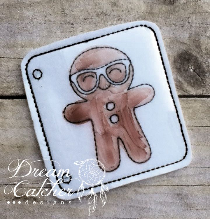ITH Geeky Ginger Boy Felt Coloring Page Embroidery Design | Dreamcatcher Designs