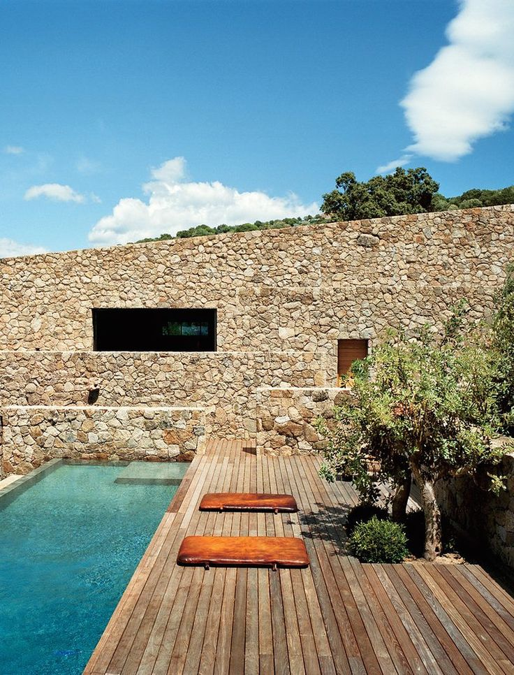 Corsica house. Olivier Marty and Karl Fournier of Studio KO restored the abandoned home and created a perfect holiday house.