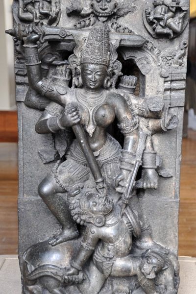 Durga killing the buffalo demon, Orissa, 13th C. -British Museum