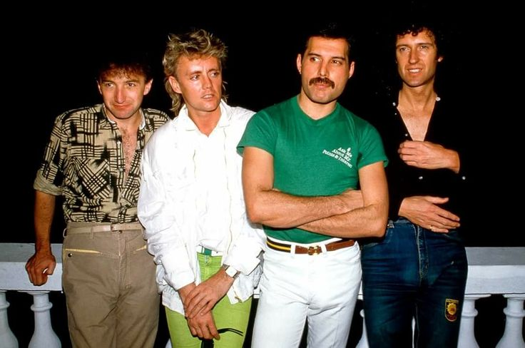 Queen in Rio to perform at the Rock in Rio Festival Brazil January 1985 .