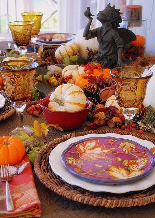 Lovely Thanksgiving Table : images of thanksgiving table settings - pezcame.com