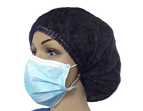 Bouffant Nurse Clip Caps 200 Pcs 14gr SPP MEDINT. Dark Blue. Single Elastic Band. Water Repellent. Protects hair from airborne bacteria. Blood Repellent. Bouffant Nurse Clip Cap Single Elastic SPP 10grs, dark blue (200 Pieces) MEDINT.