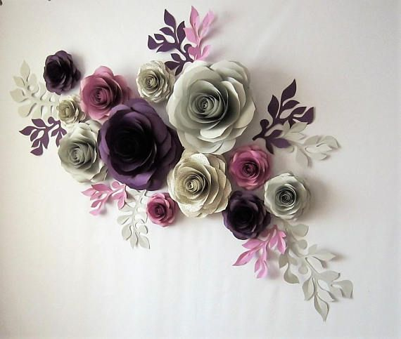 Book Pages Flowers Large Paper Flower Wall Wedding Decorations