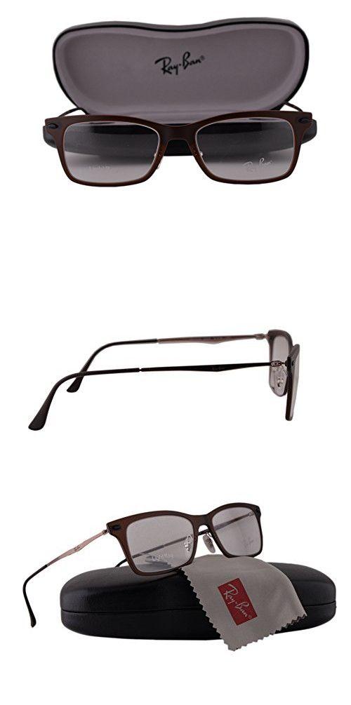 3f37a5d95d Ray Ban RX7039 Eyeglasses 51-18-140 Dark Matte Brown 5450 RX 7039 ...
