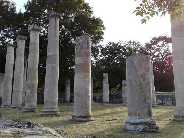 Altilia Saepinum, Roman forum, BASILICA, province of campobasso , Molise region Italy