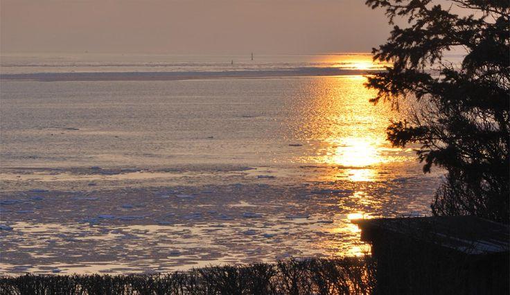 Solnedgang ved Vadehavet