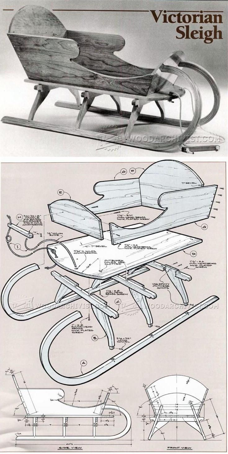Vivtorian Wooden Sled Plan - Children's Outdoor Plans and Projects   WoodArchivist.com