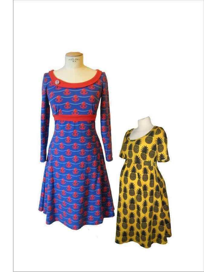 """Jerseykleid """"Swing"""" mit Still - und Umstandsversion - Schnittmuster und Nähanleitungen bei Makerist"""