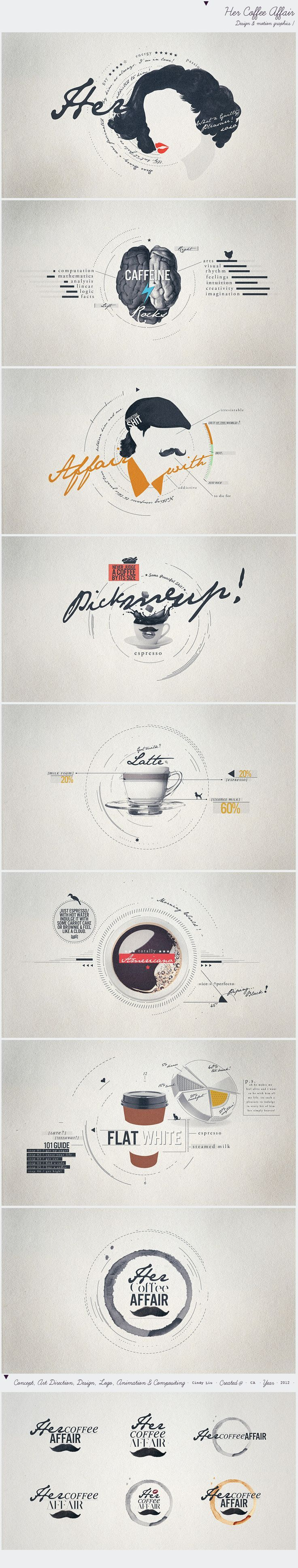 Cool Web Design on the Internet, Her Coffee Affair. #webdesign #webdevelopment #website @ http://www.pinterest.com... #infographics