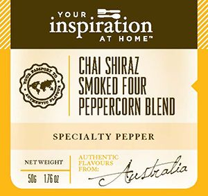 Handcrafted artisan four pepper blend bathed in Australian Shiraz, aromatic chai…