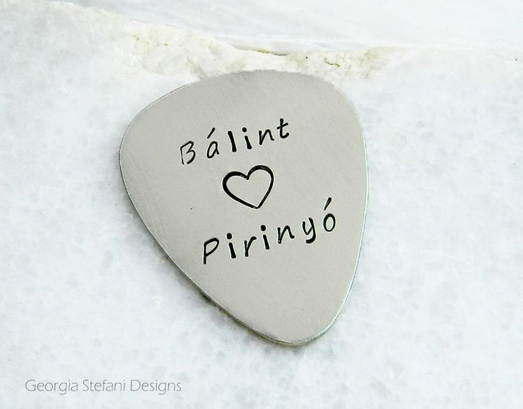 Reconnect Relationship Nickel Silver Guitar Pick.Custom Text. I love you guitar pick. names for love. Forever Together. Music lovers.
