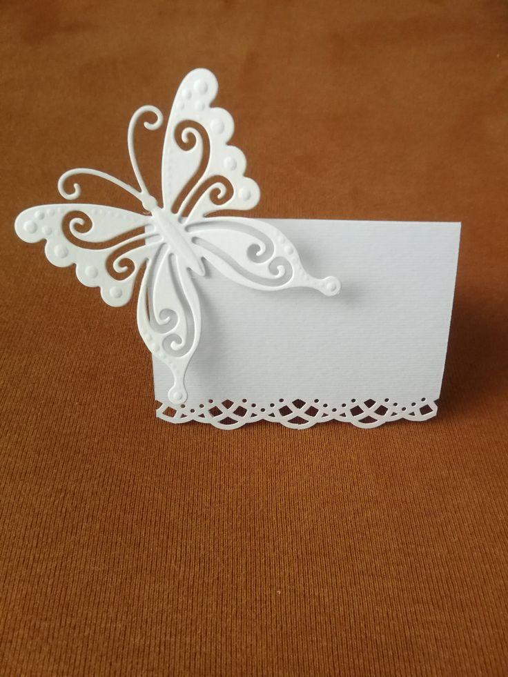 RESERVED Baptism set Invitation Table card Menu Baby girl christening - Butterfly design
