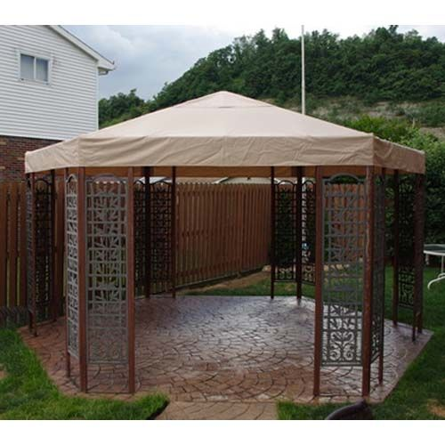 Sams Club Wood Hexagon Trellis Gazebo Replacement Canopy