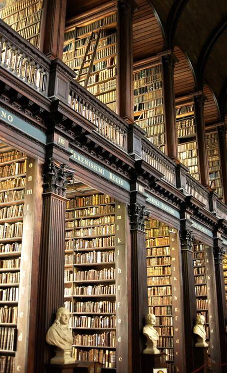 Trinity College Library, Dublin, Ireland photo via hither