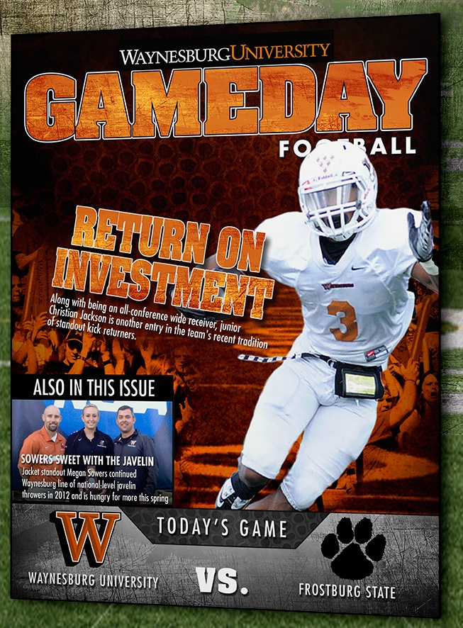 8 First Home Decorating Ideas You Ll Want To Steal: Here Is The GameDay Program Cover For Waynesburg