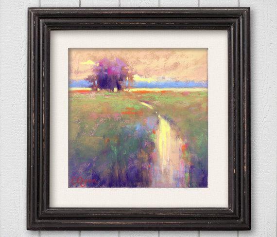 Original Pastel Painting Dusk by Bluishpurpletrees on Etsy