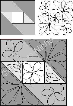 FW001 Attic Window quilting design