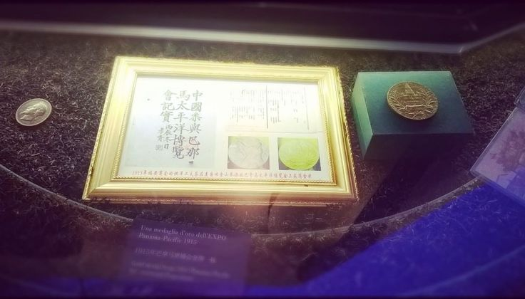 China Pavilion-Ancient gold coins with The representations.