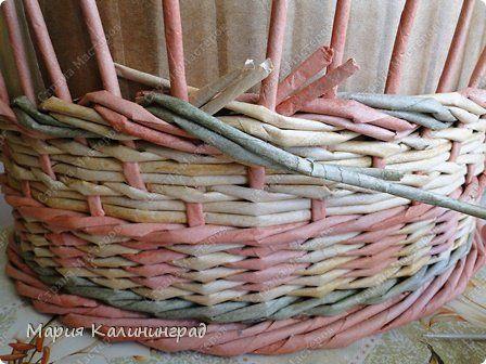 Мастер-класс Поделка изделие Плетение мк трёхцветной косы и пара плетушек Бумага газетная Трубочки бумажные фото 18