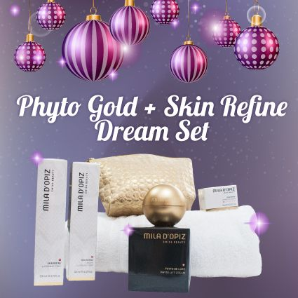 The Christmas countdown is on! Spoil your valued clients, or even yourself, this Christmas with our Mila d'Opiz Phyto Gold + Skin Refine Dream Set! Includes a Phyto Gold Cream and three of our selected Skin Refine favourites, beautifully packaged in an elegant shimmering gold cosmetic bag. For purchases, please visit our website to find your nearest stocklist or send us an email at info@miladopizaustralia.com.au.