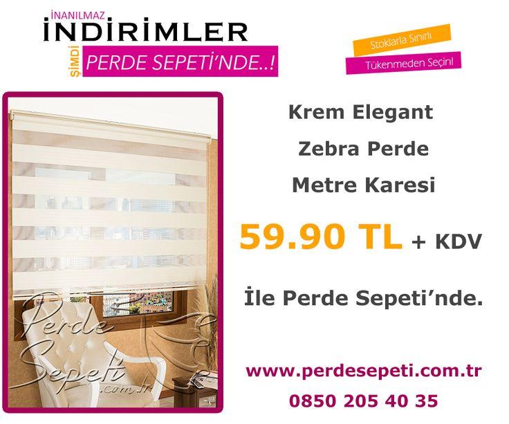 Krem Elegant Zebra Perde Metre Karesi 59.90 TL + KDV İle Perde Sepeti' nde! Sipariş Vermek İçin Linki Tıklayın -> http://bit.ly/1tnKm4j